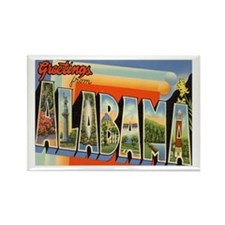 Alabama Postcard Rectangle Magnet