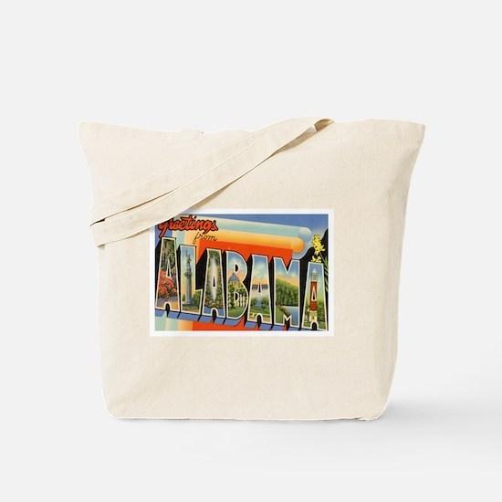 Alabama Postcard Tote Bag