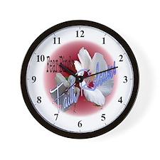 Fear Binds - Faith Releases Flower Wall Clock