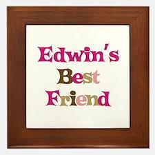 Edwin's Best Friend Framed Tile