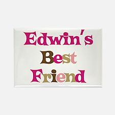 Edwin's Best Friend Rectangle Magnet