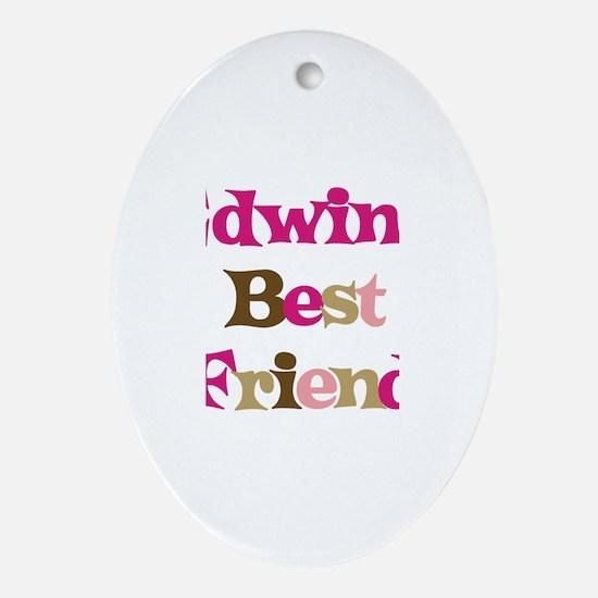 Edwin's Best Friend Oval Ornament