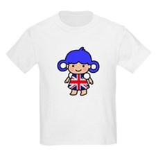 Girl in Union Jack Dress T-Shirt