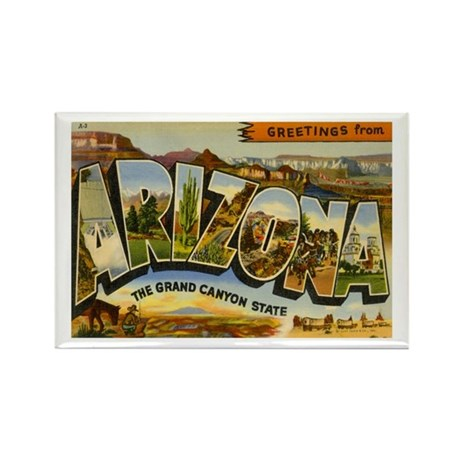 Arizona AZ Postcard Rectangle Magnet