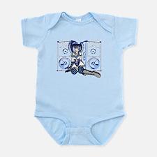 Industrial Girl in Blue Infant Bodysuit