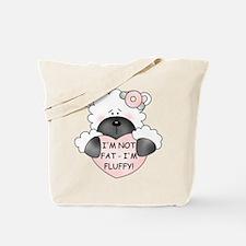 I'M NOT FAT Tote Bag