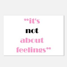 Its Not About Feelings Postcards (Package of 8)