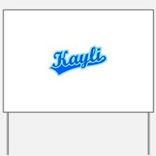 Retro Kayli (Blue) Yard Sign
