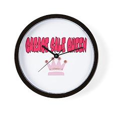 Garage Sale Queen Wall Clock