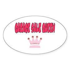 Garage Sale Queen Oval Decal