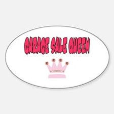 Garage Sale Queen Oval Decal