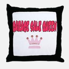 Garage Sale Queen Throw Pillow