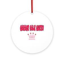 Garage Sale Queen Ornament (Round)