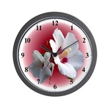 Rose of Sharon Garden Clocks Wall Clock