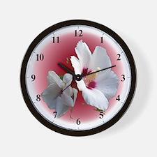 Rose of Sharon Garden Clocks Wall Clock
