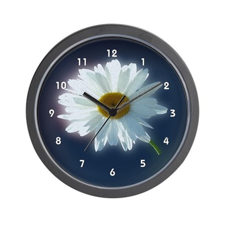 Sunshine Backlit White Daisy Clocks Wall Clock