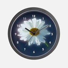 Sunshine Backlit White Daisy Clocks Wall Clock