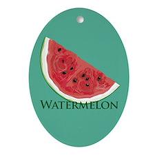 Watermelon Slice Oval Ornament