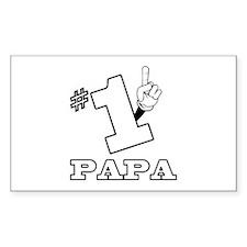 #1 - PAPA Rectangle Decal