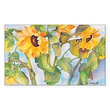 Sunflowers Rectangle Sticker 10 pk)