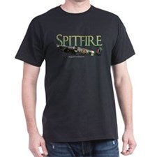 Spitfire drawing on T-Shirt (Dark)