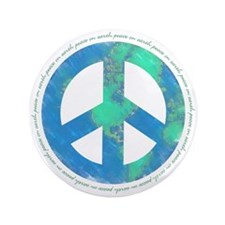 """Peace On Earth 3.5"""" Button"""