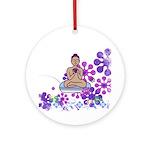 Java Buddha Ornament (Round)