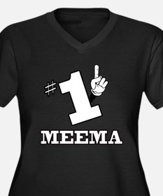 #1 - MEEMA Women's Plus Size V-Neck Dark T-Shirt