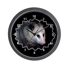 Possum Opossum Clocks Wall Clock