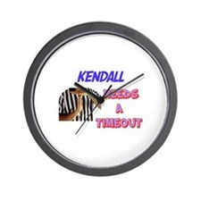 Kendall Needs a Time-Out Wall Clock