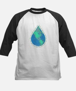 Water Drop Earth Kids Baseball Jersey