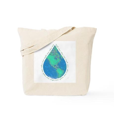 Water Drop Earth Tote Bag