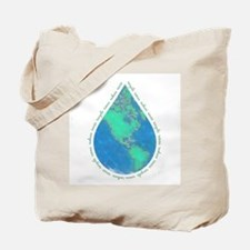 Water Drop Earth Tote Bag