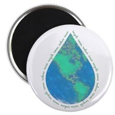 """Water Drop Earth 2.25"""" Magnet (100 pack)"""