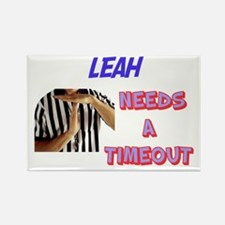 Leah Needs a Time-Out Rectangle Magnet