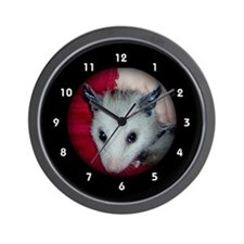 Baby Possum Opossum Clocks Wall Clock