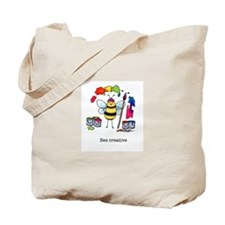 """Bee Creative"" Tote Bag"