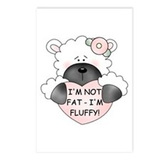 I'M NOT FAT Postcards (Package of 8)