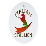 Italian Stallion Keepsake (Oval)