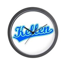 Retro Kellen (Blue) Wall Clock