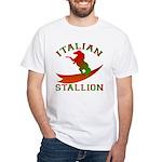 Italian Stallion White T-Shirt