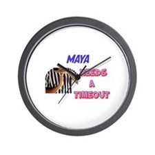 Maya Needs a Time-Out Wall Clock