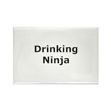 Drinking Ninja Rectangle Magnet