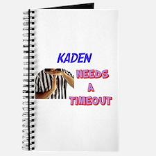 Kaden Needs a Timeout Journal
