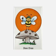 """""""Bee Free"""" Rectangle Magnet"""