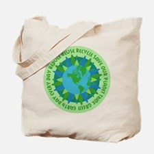 Earth Day Slogans Tote Bag