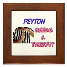 Peyton Needs a Time-Out Framed Tile