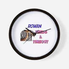 Rowan Needs a Time-Out Wall Clock