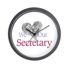 We Love Our Secretary Wall Clock