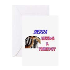 Sierra Needs a Time-Out Greeting Card